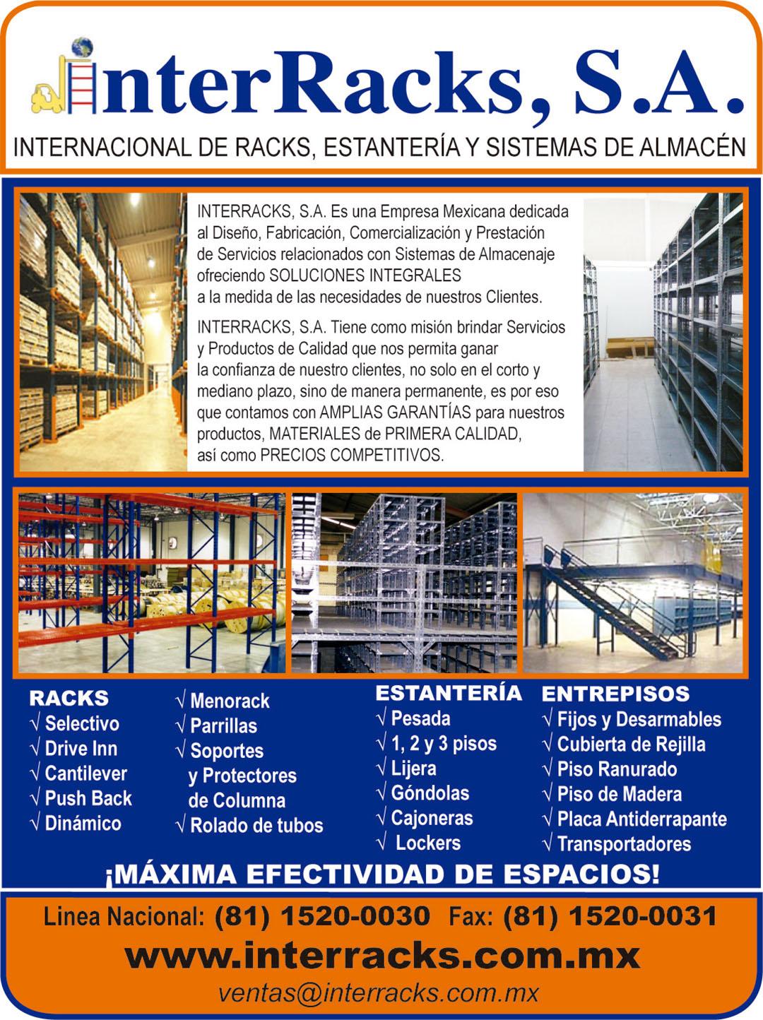interracks estantería y sistemas de almacén